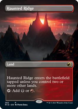 A borderless version of the Haunted Ridge land.