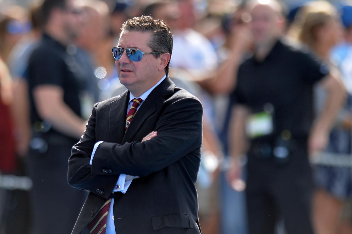 Washington owner Dan Snyder looks on before the game against the Los Angeles Chargers at StubHub Center.