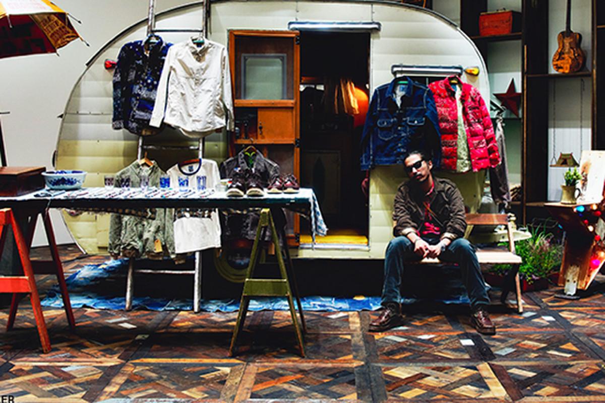 """Image via <a href=""""http://www.selectism.com/2013/02/01/visvim-hiroki-nakamura-f-i-l-indigo-camping-trailer/"""">Selectism</a>"""