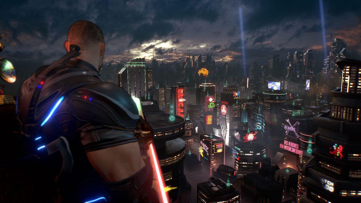 Crackdown 3 - city skyline