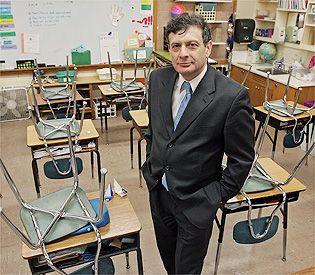 Mayor David Cohen of Newton, Mass. The town faces school budget cuts after failing to override a tax cap. <em>##http://www.bostonherald.com/news/regional/politics/view.bg?articleid=1083371&srvc=home&position=0##Boston Herald##</em>