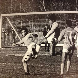 Rocco in a game with Columbia University