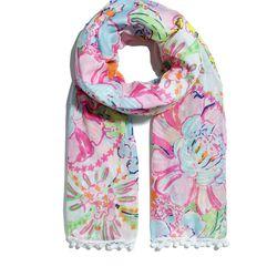 'Nosie Posey' pom pom scarf, $20