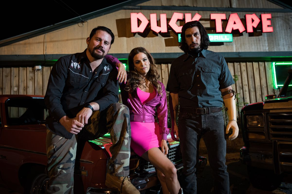 Channing Tatum, Riley Keough, and Adam Driver in 'Logan Lucky'