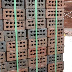 5:15 p.m. Side view of bricks -