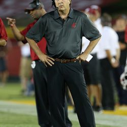 Mike Leach on the side line