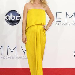 """Claire Danes from """"Homeland"""" arrives at the 64th Primetime Emmy Awards at the Nokia Theatre on Sunday, Sept. 23, 2012, in Los Angeles."""