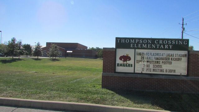 Thompson Creek Elementary School's strong test scores helped it earn an A for the second straight year.