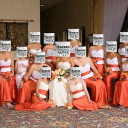 """Writes the tipster who sent this in, """"While I was not a bridesmaid in this, I understand her love of the University of Florida. I love UF too, but still..."""""""