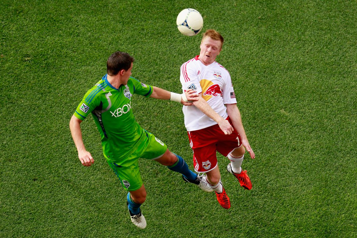 Marc Burch has been an Iron Man for Seattle.  But Left Full Back is an area that the Sounders could improve.  (Photo by Mike Stobe/Getty Images for New York Red Bulls)