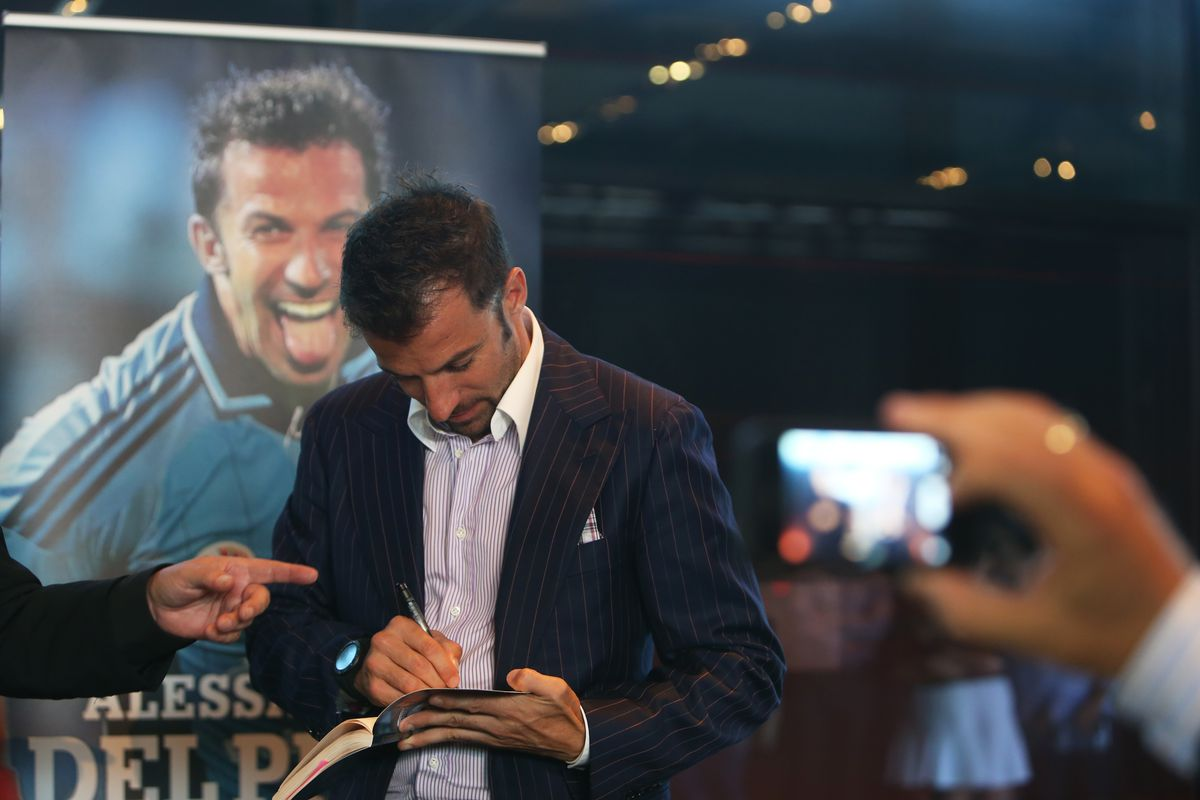 """""""Playing On"""" Alessandro Del Piero book launch"""