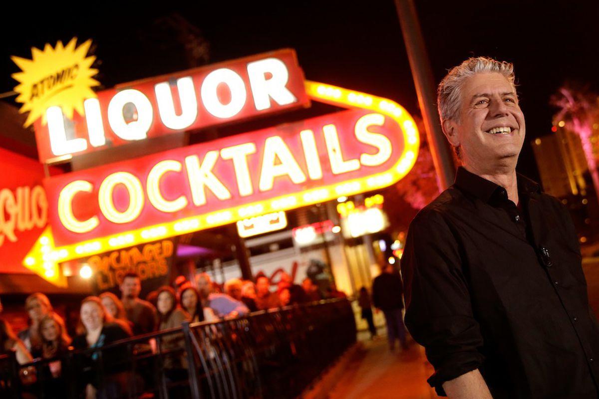 Anthony Bourdain at Atomic Liquors