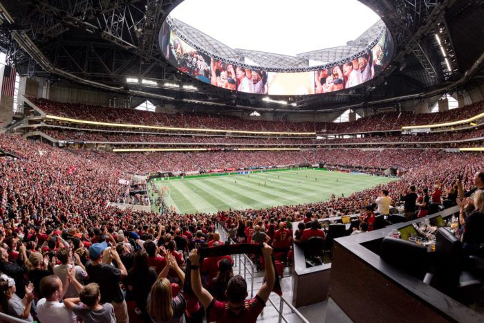 Mercedes Benz Stadium S Retractable Roof Is Almost Functional Finally Curbed Atlanta