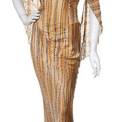 Angelo Marani, (Italian, b. 1953), Evening Gown with Fur Coat Estimate: $200 to $400   Sold for: $1250