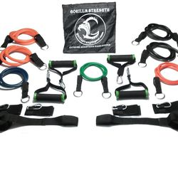 """If you're too busy to work out at a gym, get yourself a home kit of resistance bands. Blake says, """"Fifteen minutes, four times a week is infinitely better than zero plus excuses."""" More specifically, Blake recommends Gorilla Strength bands, which can fit i"""