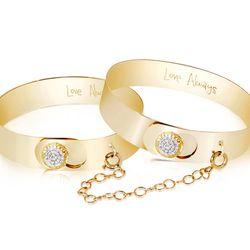 """Love Always Cuffs, <a href=""""http://shop.phillipsfrankel.com/CUFFS-BRACELETS/The-Love-Always-Cuffs-p595.html"""">$8100</a>"""