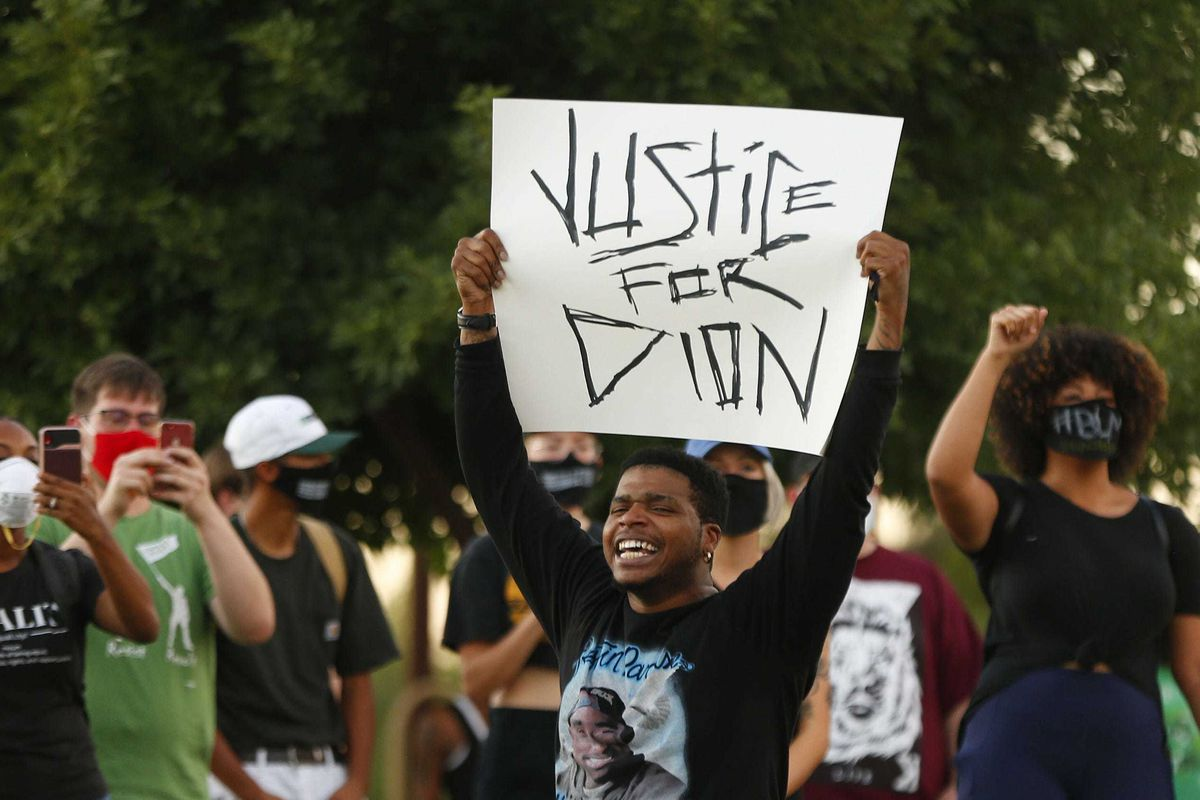Justice for Dion sign