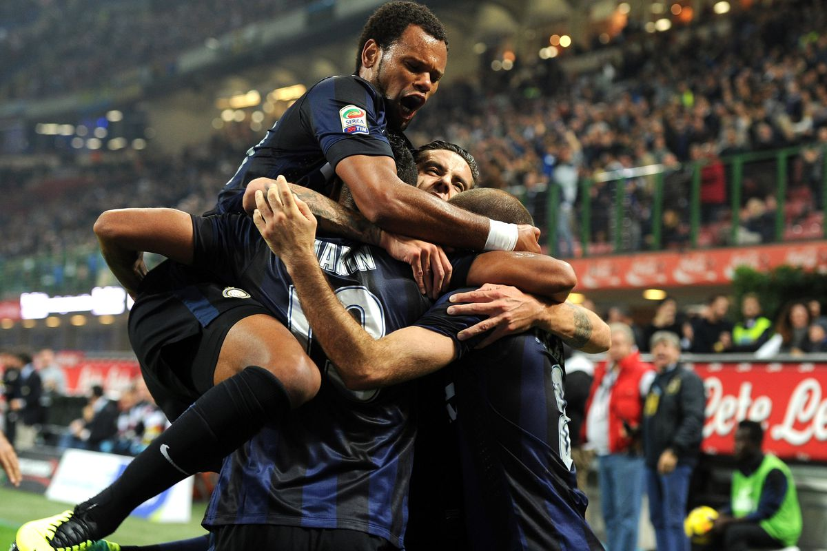 Inter Players Celebrating a Goal.