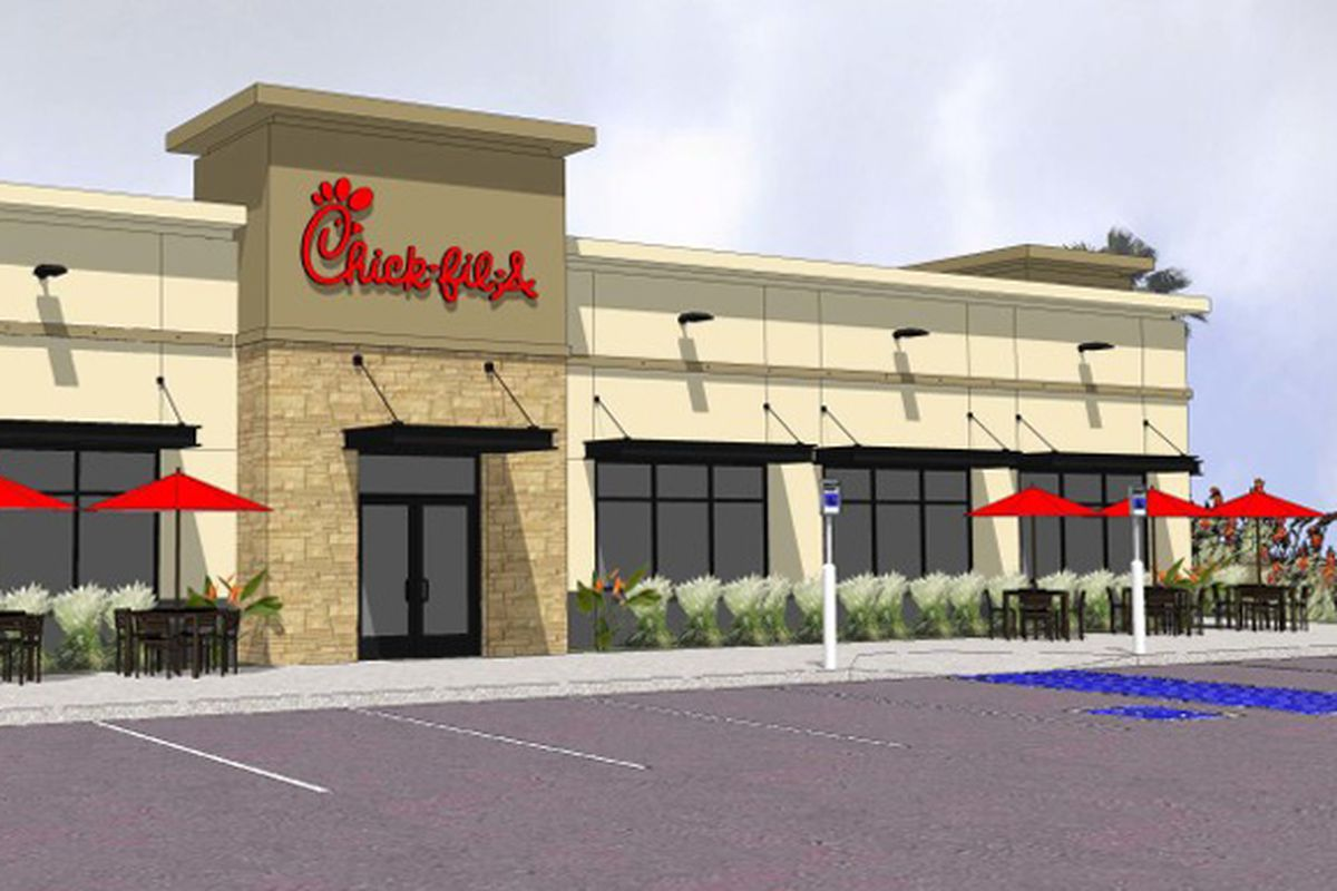 Chick-fil-A rendering of Stephanie and Warm Springs location