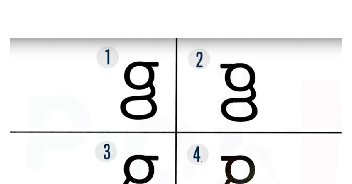 Dont Be So Sure You Know What A Lowercase G Looks Like The Verge