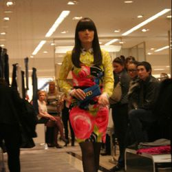 Maggie Morgan Walking in the Cheeky Chicago spring fashion show at Bloomingdale's on Michigan Avenue