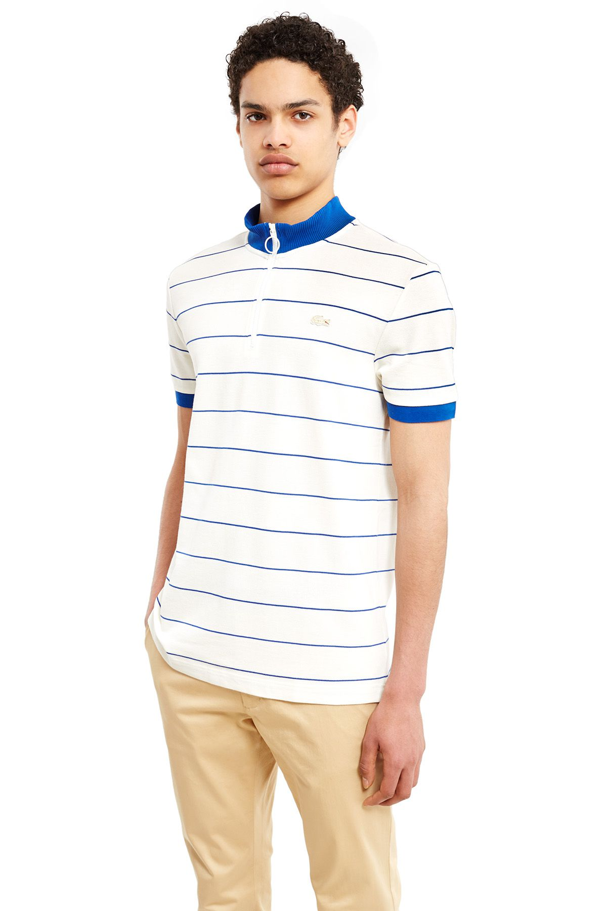 Lacoste x Opening Ceremony striped mock neck