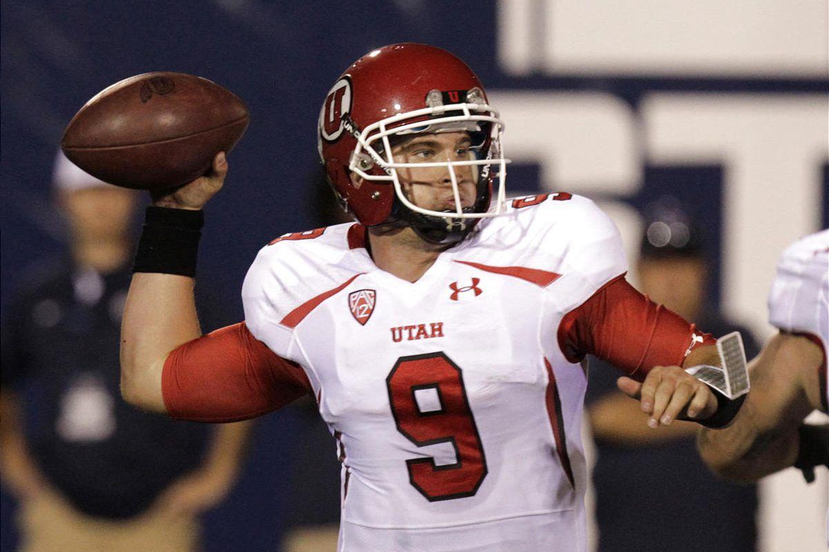 Utah quarterback Jon Hays, shown here last week against Utah State, is 6-3 in games he has started for the Utes.