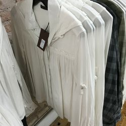 Crescent shirt in off-white, $120