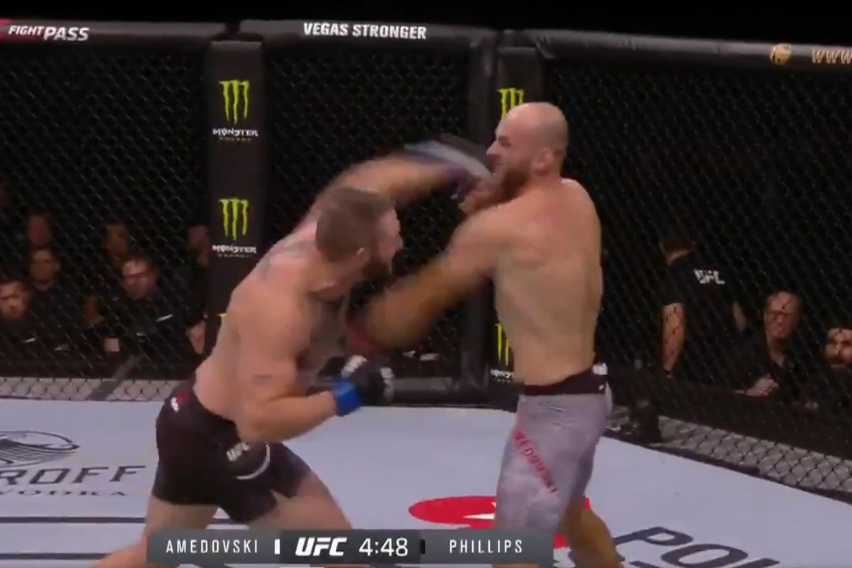 UFC Copenhagen video: John Phillips haymakers put stamp on 17-second slugfest