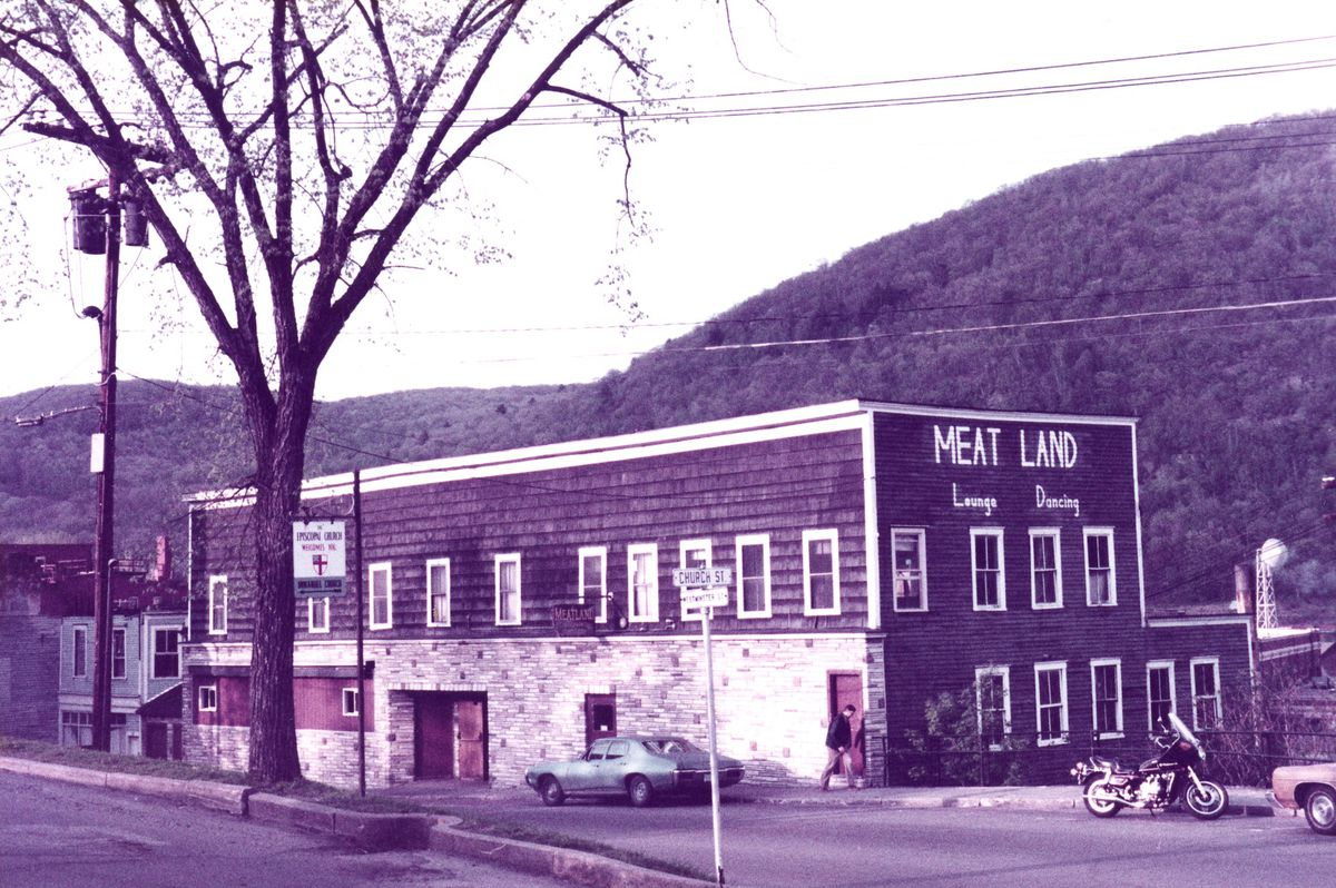 A 1980 photo of a meat store in Bellows Falls, Vermont.