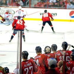 Capitals Watch From Bench