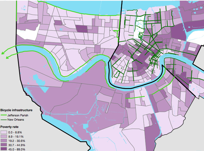 Report: New Orleans needs safer streets, bike lanes - Curbed ...