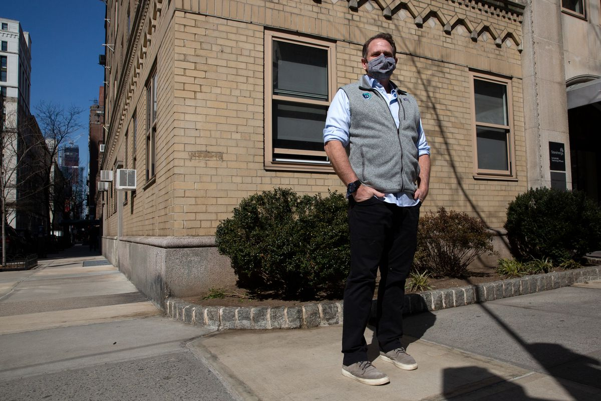 Gordon Alcott has been running a technology business out of his Murray Hill apartment during the coronavirus outbreak, March 9, 2020.