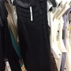 Leather layered dress, $209 (was $898)