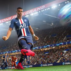 An in-engine screenshot of <em>FIFA 21</em> on the PlayStation 5 and Xbox Series X.