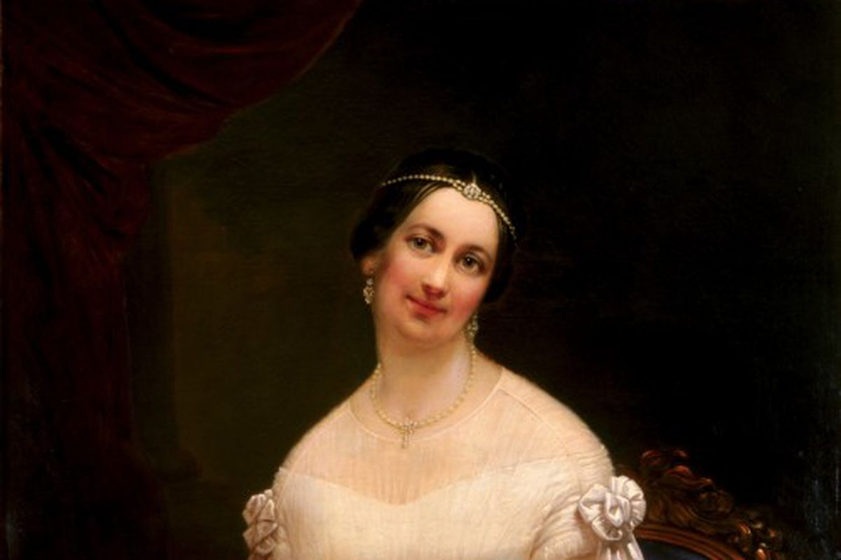 official painting of Julia Tyler