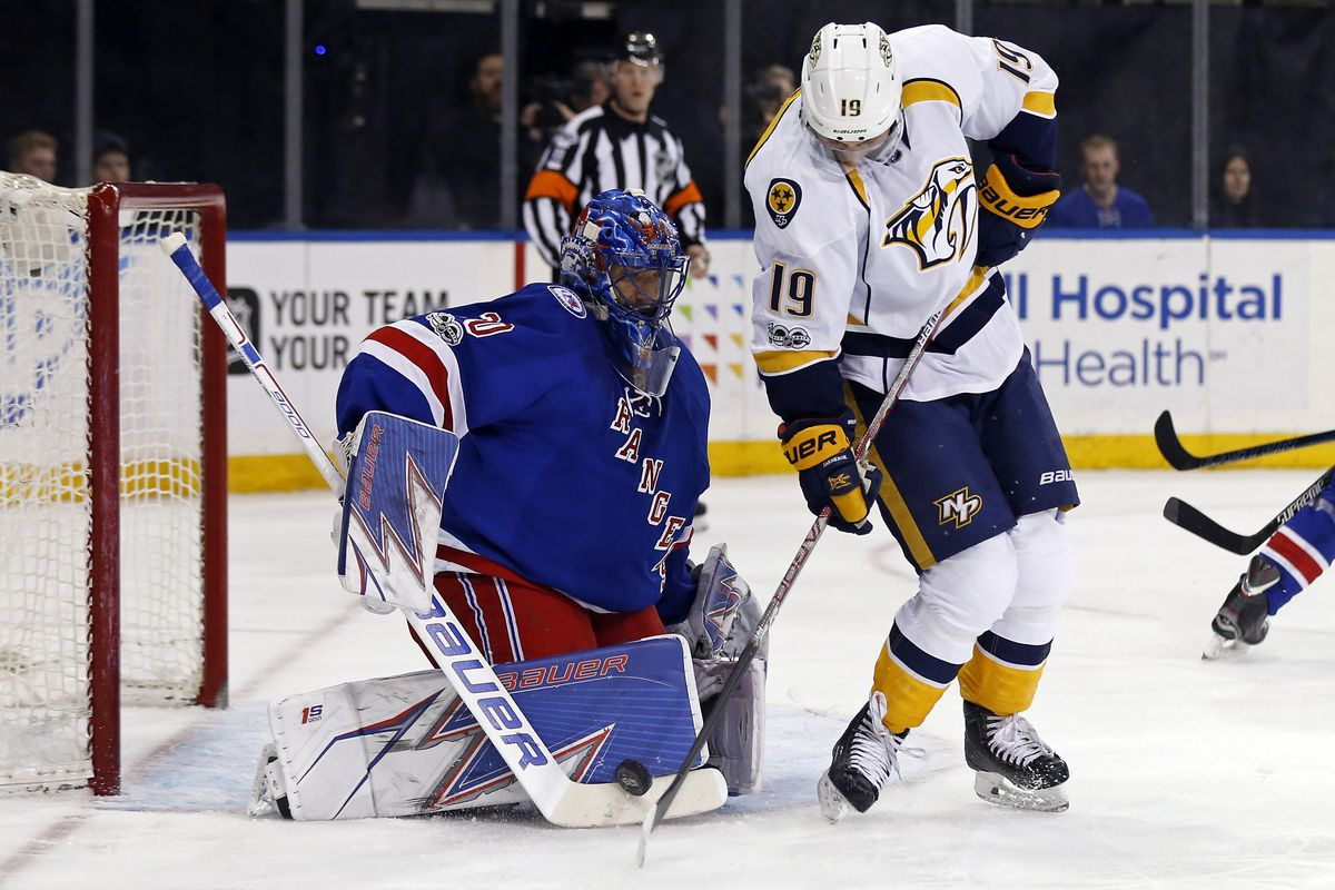 NHL: Nashville Predators at New York Rangers