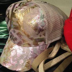 Metallic cap, $9