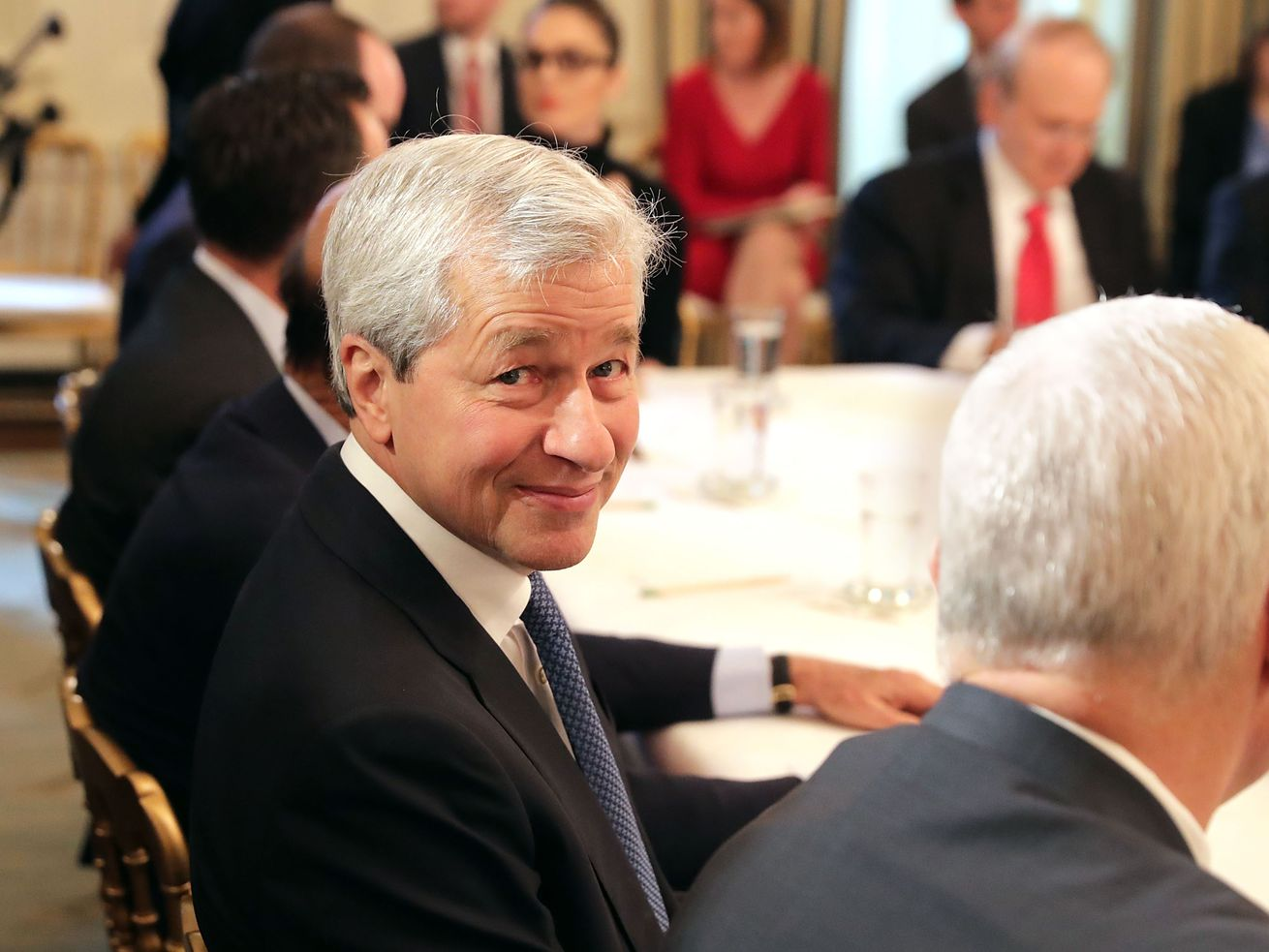 JPMorgan Chase CEO Jamie Dimon at a policy forum with President Donald Trump at the White House in February 2017.