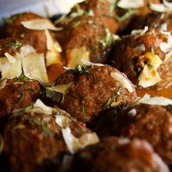 Meatballs at Bacchanal Buffet.