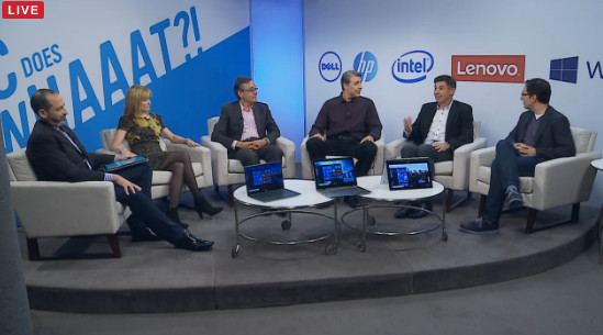 Marketing chiefs from Intel, Microsoft, HP, Dell and Lenovo discuss the PC Does What? campaign.