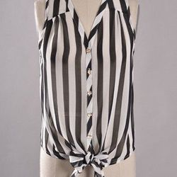 """From Old City's Smak Parlour, the <a href=""""http://www.smakparlour.com/darling-striped-burglar-top/"""">Darling Stripled Burglar Top</a>, $44"""