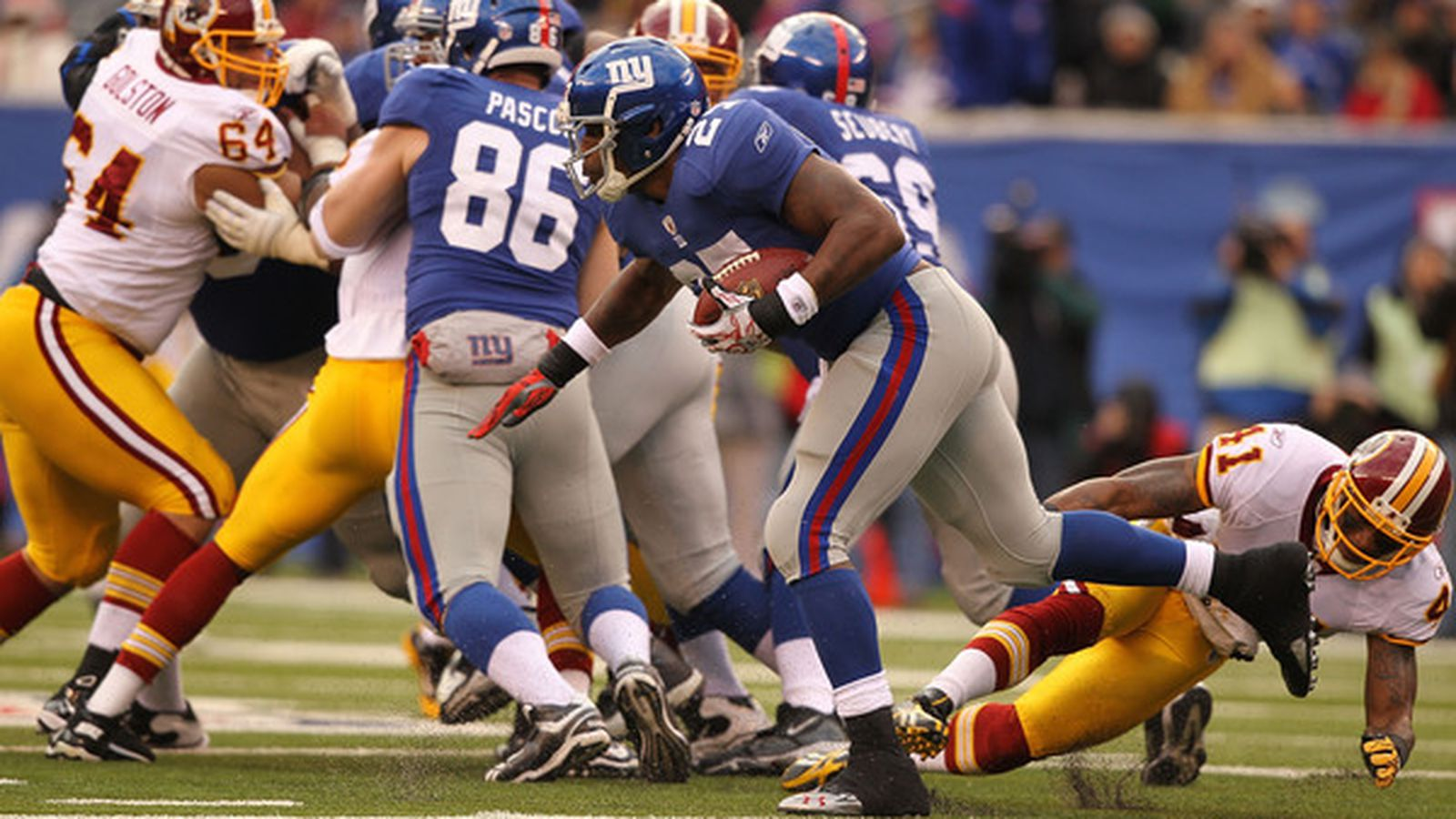 Check out all the highlights and stats from the Redskins win over the Giants on Thanksgiving night