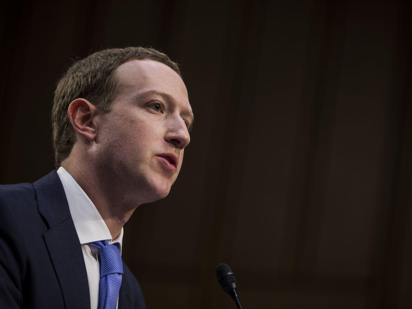 Facebook CEO Mark Zuckerberg testifies at joint Senate Commerce/Judiciary hearing.