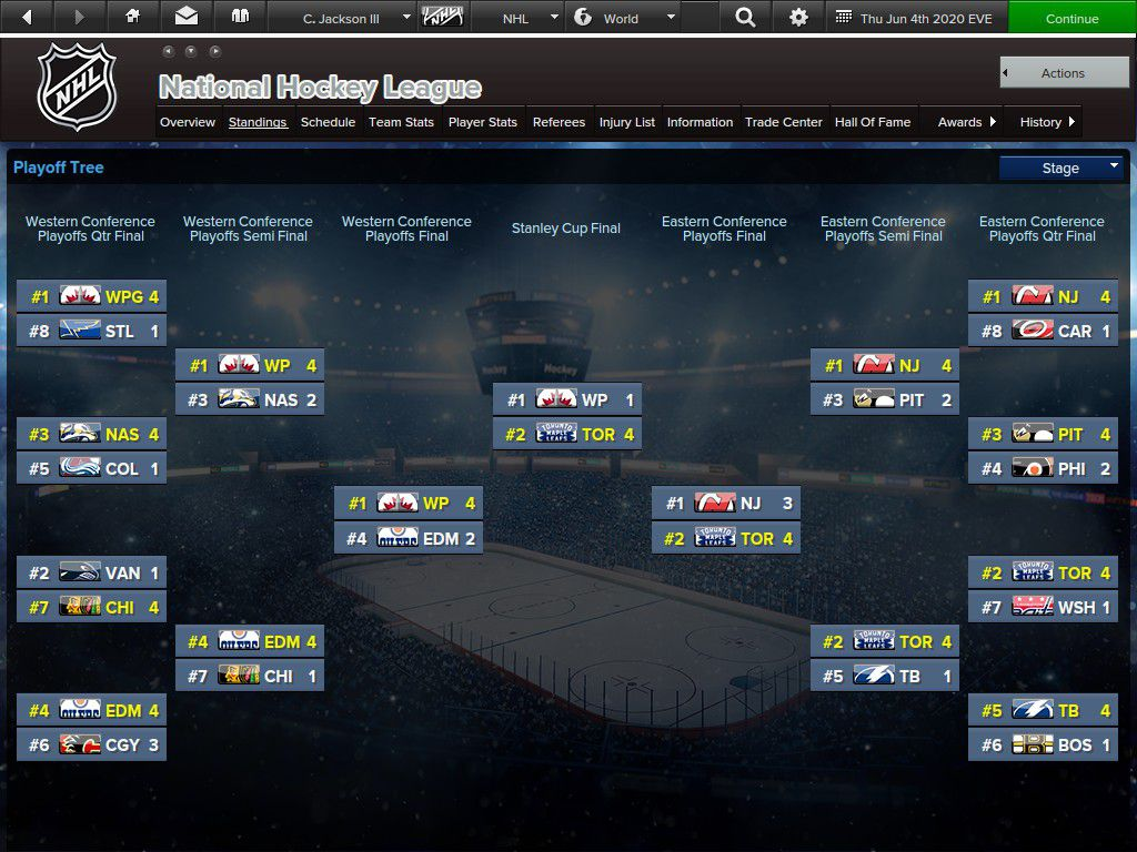 Playoff tree - Toronto ended up winning it all.