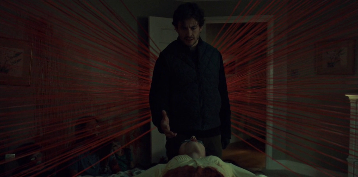 Will seems to have red dragon wings on Hannibal.