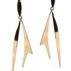 """<strong>Iosselliani</strong> Dangling Black Stone Earrings at <strong>Scoop NYC</strong>, <a href=""""http://www.scoopnyc.com/dangling-black-stone-earrings"""">$250</a>"""