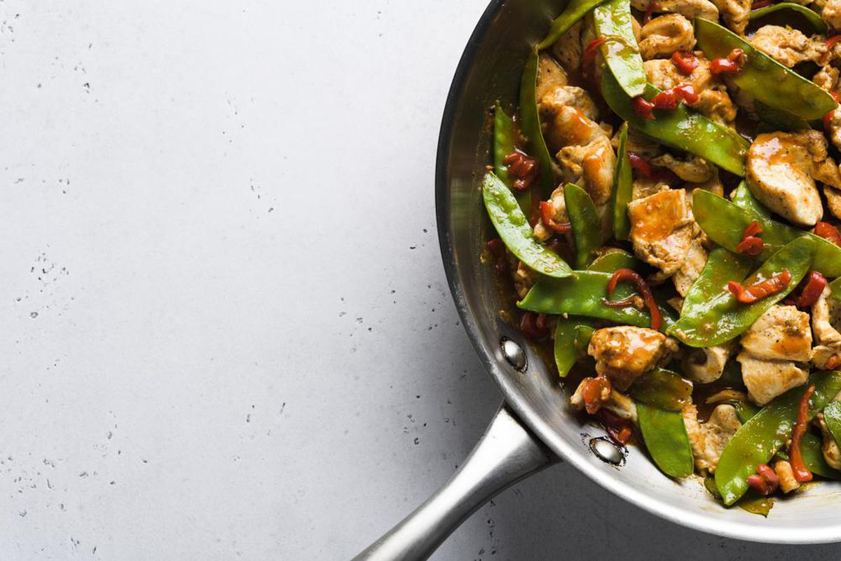 For a stir-fry packed with tons of savoriness, a combination of Chinese oyster sauce and Korean gochujang, a fermented red chili paste, delivers just that, plus pleasant sweetness.