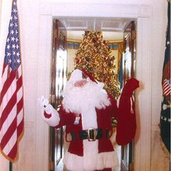 Officer Jim Shea in his special uniform in the White House.