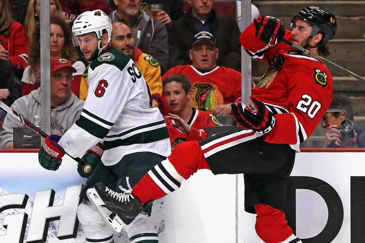 Are the Blackhawks just going to kick the Wild's butts all series?